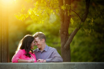 Engagement pictures at Guy West Bridge, Sacramento State University