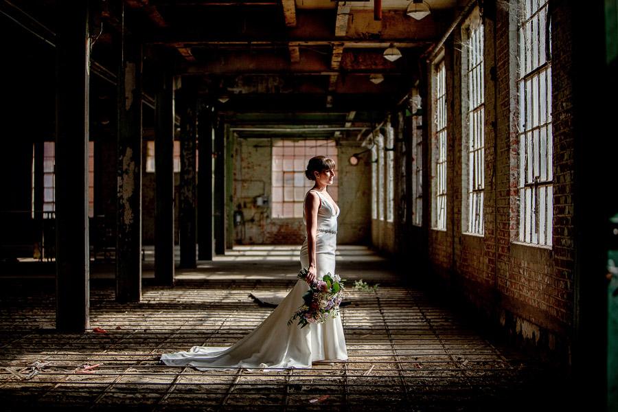 bride in historic old sugar mill
